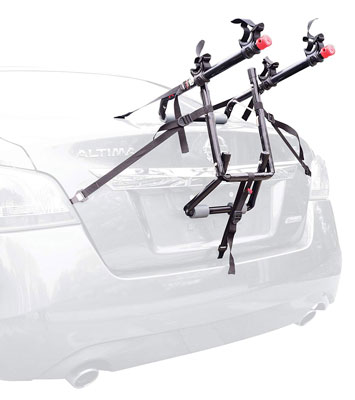 Allen Sports Adjustable Ultra Compact Trunk Mounted 2 Bike Rack Black Used