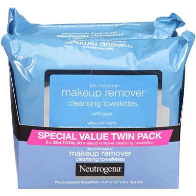 Neutrogena Makeup Remover Cleansing Towelettes, 2 Pack