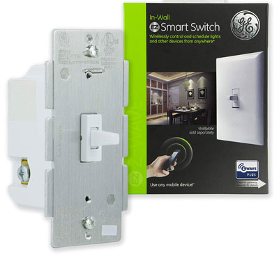 GE, 14292 White Enbrighten Z-Wave Plus Smart Life Switch
