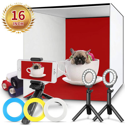 FOSITAN Table Top Continuous Kit Portable Photo Studio