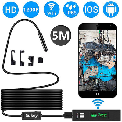 Sukey OKEER Wireless Endoscope HD Waterproof Inspection Camera