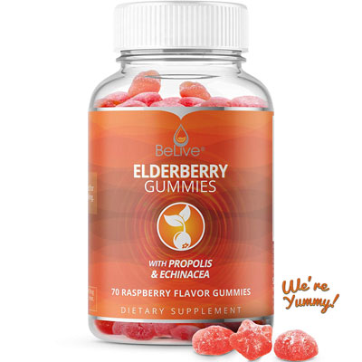 6. BeLive Chewable Elderberry Gummy Vitamin For Adults and Kids