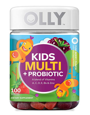 7. Olly Probiotic and Multivitamin Gummy 100 Count Chewable Supplement