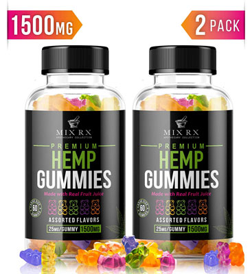 5. Mix Rx Gummy Vitamin Hemp Oil for Kids and Adults