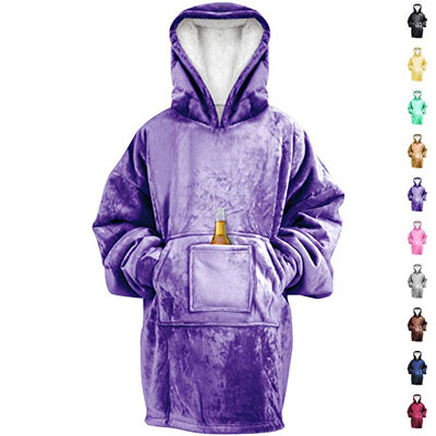 RONGO Oversized Sweatshirt Hoodie Blanket for Men, Women & Kids