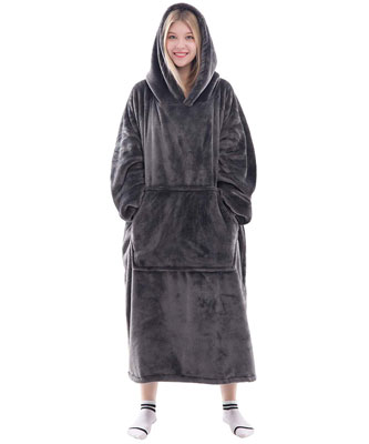 Waitu Wearable Blanket Snuggle Hoody for Adult and Child