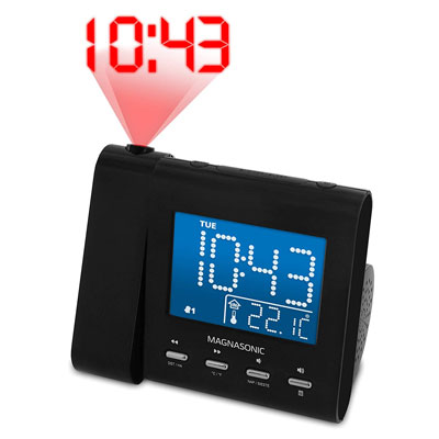 1. Magnasonic Projection Clock with Radio