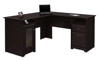 4. Bush Furniture Cabot L Shaped Computer Desk