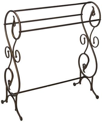 4. King's Brand Pewter Antique Towel Rack