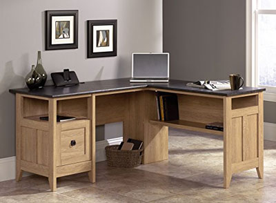 6. Sauder August Hill L-Shaped Desk