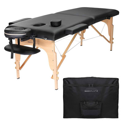 3. Saloniture Portable Folding Massage Table with Carrying Case