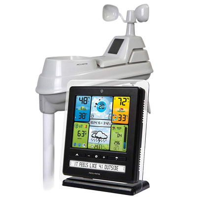 2. AcuRite Weather 5-in-1 Ticker White Black Future Forecast Color Station