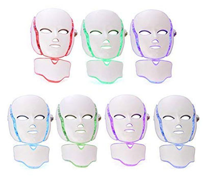 GlobalCareMarket LED Photon LED Light Therapy Mask Treatment Phototherapy with Neck