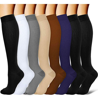Laite Hebe Travel Varicose Veins Athletic Sports Running Compression Socks for Men