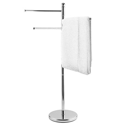 5. MyGift Freestanding 40-Inch Stainless Steel Towel Rack