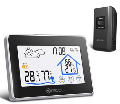 10. DIGOO Weather Sensor Home Station Wireless Backlight Monitor