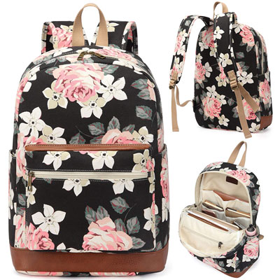 5. Kenox Girl's School Rucksack College Bookbag Travel Backpack