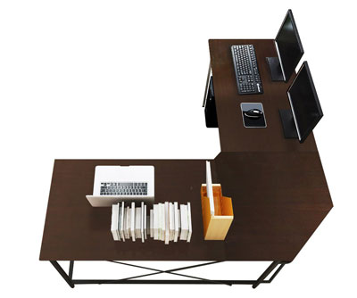 5. Soges CS-ZJ02-BK L-Shaped Computer Desk