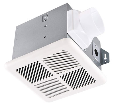 9. Tech Drive Very-Quiet 70 CFM 2.0 Sone Bathroom Ventilation and Exhaust Fan