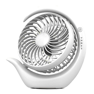 6. AceMining Rechargeable Battery Operated Fan with 3 speeds