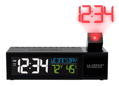 6. La Crosse Technology Pop-Up Projection Alarm Clock