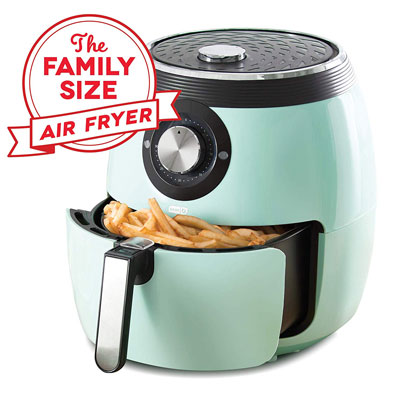 5. Dash Deluxe Electric Air Fryer + Oven Cooker (DFAF455GBAQ01)