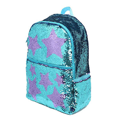 9. Le Vasty Sequin School Backpack for Girls