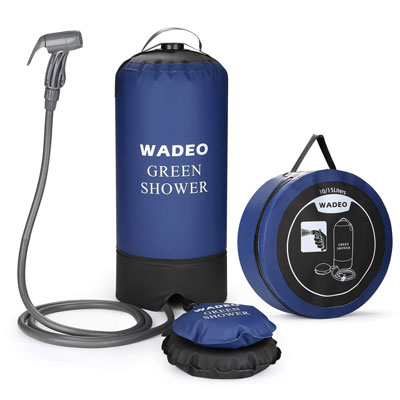 8. WADEO 4 Gallons Portable Outdoor Camping Shower Bag