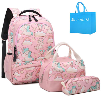 10. Meisohua School Backpacks Set Unicorn Backpack