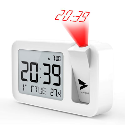 7. Hosome Projection Alarm Clock for Bedroom, Office