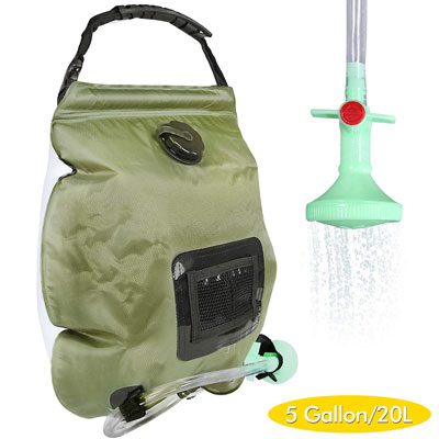 4. Trofoty 5 Gallons/20L Solar Camping Shower Bag