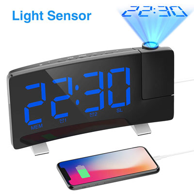 8. iRedBeau Projection Alarm Clock, Suitable for Night