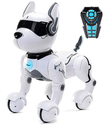 2. Top Race Remote Control Toy Robot Dog Dancing Imitates Animal Pet