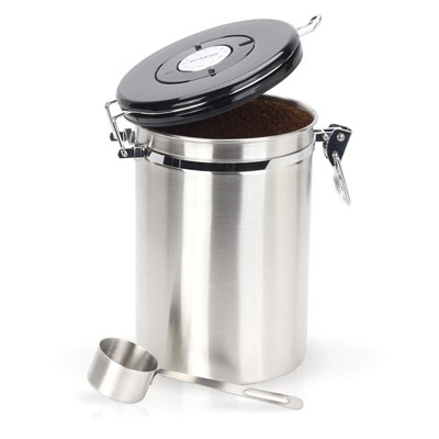 8. Braviie Gorgeous Stainless Steel Container with Scoop
