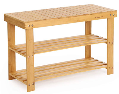 1. The SONGMICS Shoe Rack Bench Bamboo Style