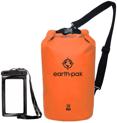 1. Earth-Park Waterproof Dry Bag with Waterproof Phone-Case