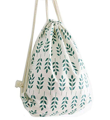 7. Danuc Fashionable and Digital Printed Drawstring Bag