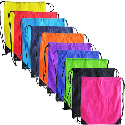 10. Topspeeder 10 colors Polyester Drawstring Backpack
