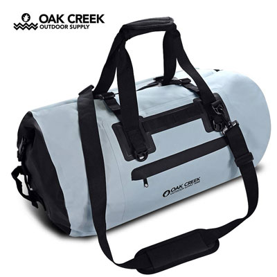 9. Oak Creek Waterproof Duffel Bag, Overlook Falls 55L Duffel Bag
