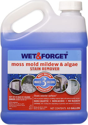 1. Wet and Forget 800003 Moss Mold Mildew & Algae Stain Remover