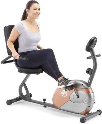 1. Marcy Magnetic Recumbent Bike for Exercise