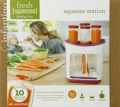 1. Infantino Baby Food Maker - Squeeze Station
