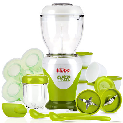 5. Nuby Baby Food Maker Set with Cook Book (22 Piece)