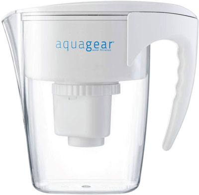 2. Aquagear Clear BPA-Free Water Filter Pitcher