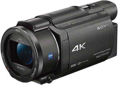 3. Sony Black 4K HD Video Recording Camcorder (FDRAX53/B)
