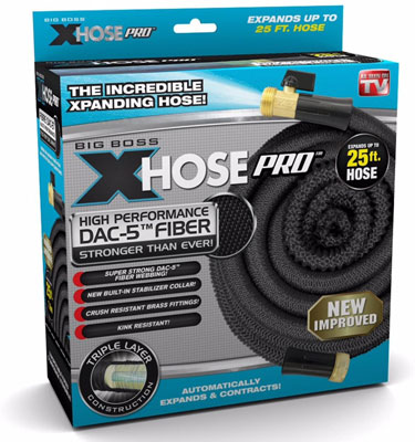 9. Xhose Expandable Garden Hose with Brass Fittings (Pro DAC-5)