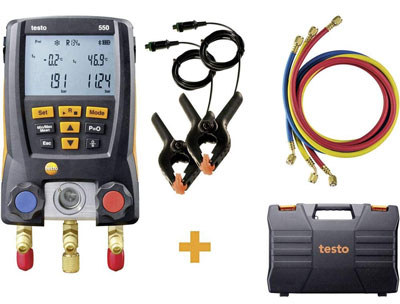 2. Testo 550 Hoses - Digital Manifold Kit with Bluetooth