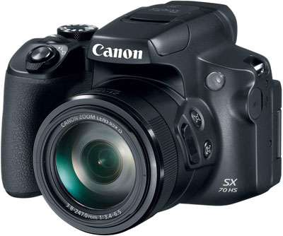 6. Canon 20.3MP Powershot SX70 Digital Camera (Black)
