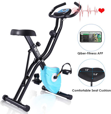 8. ANCHEER Upright Recumbent Bike for Exercise