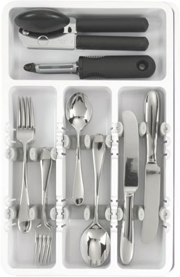 6. OXO White Expandable Utensil Organizer